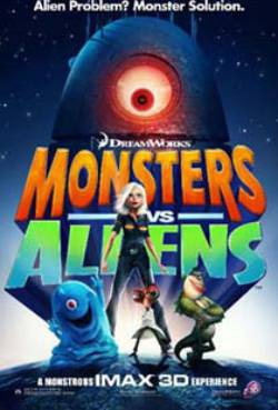 Monsters vs Aliens (Dual Audio)
